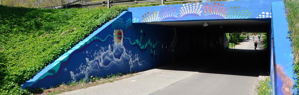 Køge-Billedskole-Ølbyfestival2018_den-malede-tunnel